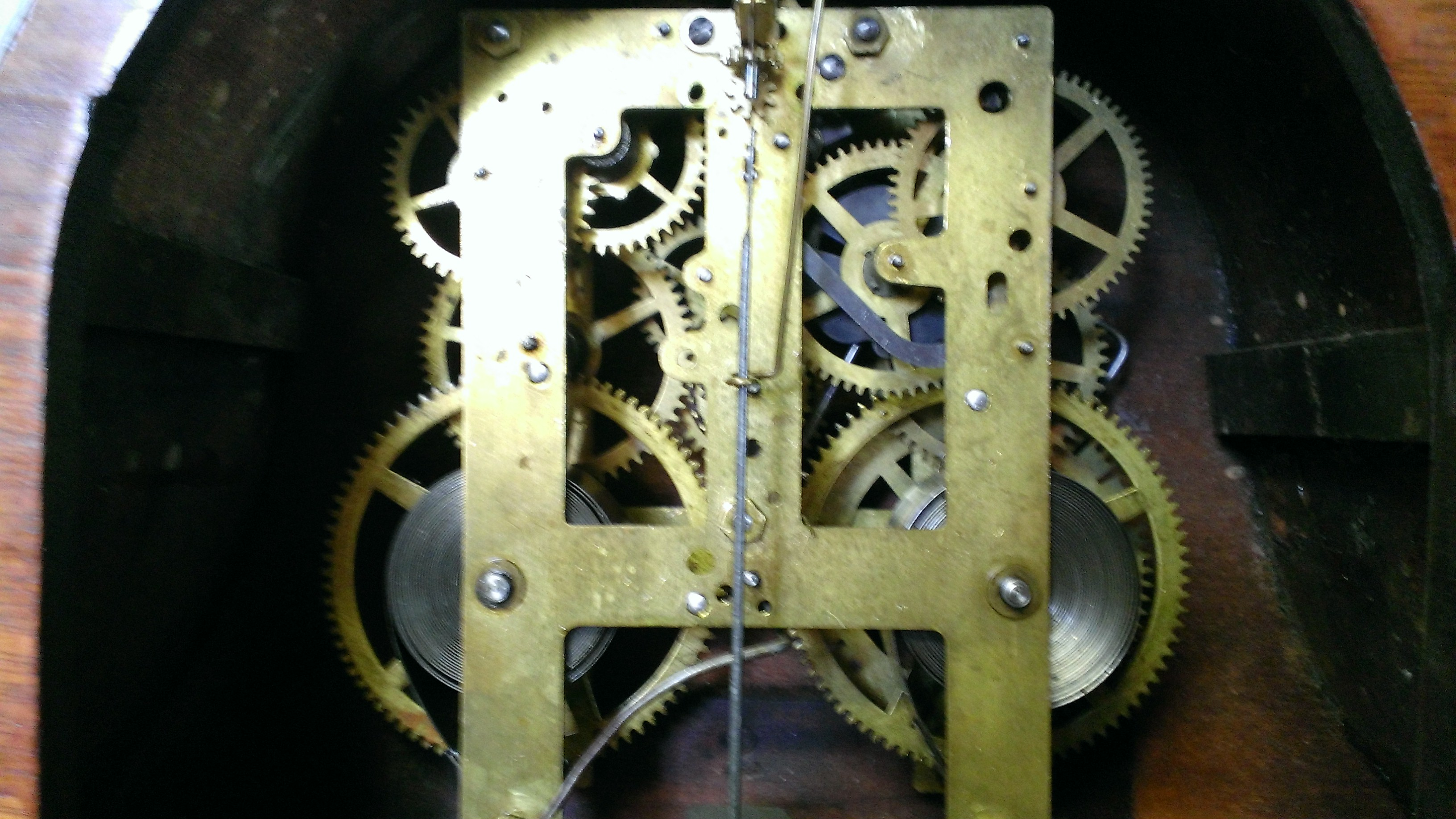 Sessions Tambour Mantel Clock c  1930 American