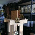 Clock testing stand