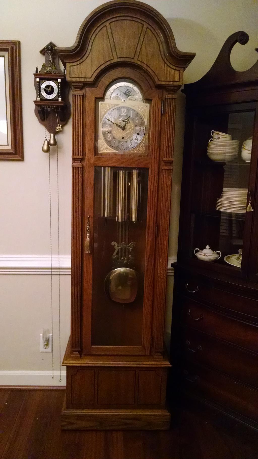 Wurlitzer Grandfather Clock Hermle Triple Chime Rescue